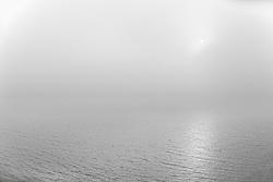 Sunset and fog at Eyjafjordur, north east Iceland-  Sólsetur í þoku í Eyjafirði