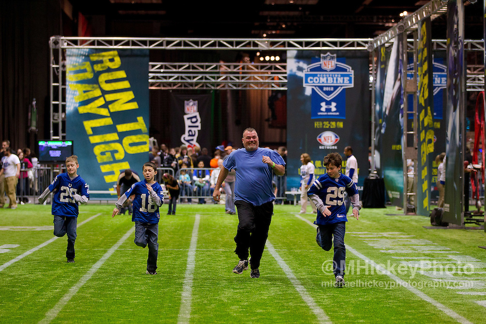 Jan. 28, 2012; Indianapolis, IN, USA; General shots from the NFL Experience at the Indiana Convention Center. Mandatory credit: Michael Hickey-US PRESSWIRE