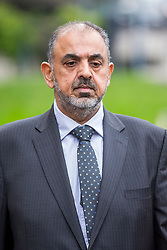 © Licensed to London News Pictures. 19/03/2019. Sheffield UK. Lord Nazir Ahmed of Rotherham arrives at Sheffield Magistrates court this morning. Lord Ahmed has been charged with two counts of attempting to rape a girl, the former Labour peer is also charged with indecent assault of a boy under 13. It is alleged the offences took place between 1971 and 1974, when Lord Ahmed would have been aged between 14 and 17. Two other men, Mohammed Farouq, 68, and Mohammed Tariq, 63, both from Rotherham, have also been charged. Photo credit: Andrew McCaren/LNP