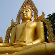 Buddha statue at Talu Temple in Ratchaburi, Thailand.