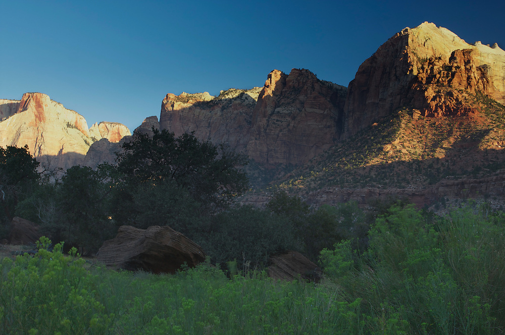 Early morning on the Pa'rus Trail, Zion National Park, Utah