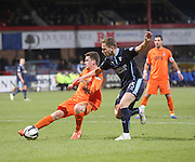 Kilmarnock's Ross Barbour tackles Dundee's Greg Stewart -  Dundee v Kilmarnock, SPFL Premiership at Dens Park <br /> <br /> <br />  - &copy; David Young - www.davidyoungphoto.co.uk - email: davidyoungphoto@gmail.com
