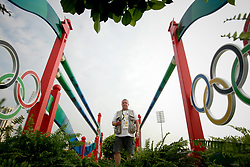 Caremans Dirk, BEL checking the remote control camera <br /> Olympic Games Hong Kong 2008<br /> © Hippo Foto - Dirk Caremans<br /> 21/08/08