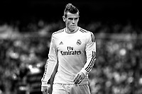 Real Madrid's Gareth Bale during a Spanish La Liga soccer match between Real Madrid and Granada at Santiago Bernabeu stadium in Madrid, Spain. January 25, 2014. (ALTERPHOTOS/Caro Marin)(EDITORS NOTE: This image has been converted to black and white)