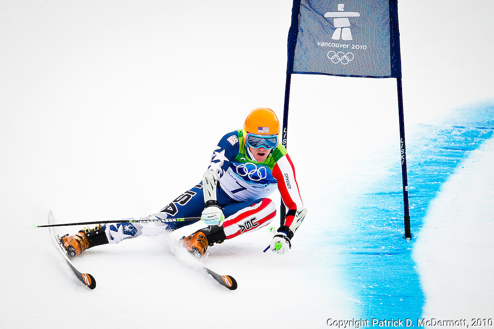 Ted Ligety, USA, competes in the Men's Giant Slalom during the 2010 Vancouver Winter Olympics in Whistler, British Columbia, Tuesday, Feb. 23, 2010.