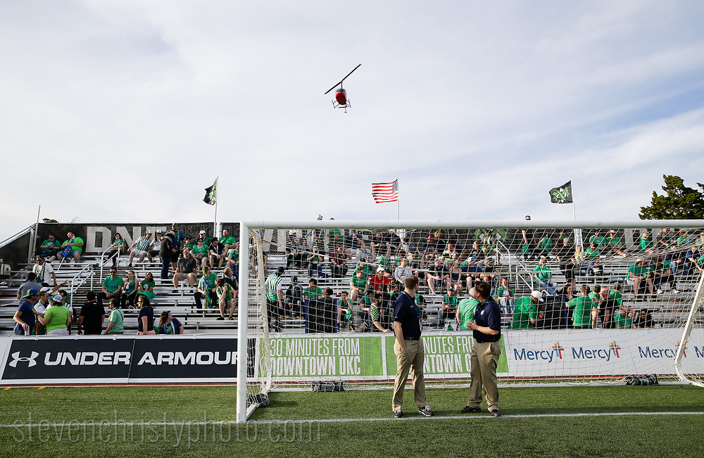 April 8, 2017: OKC Energy FC plays the Rio Grande Valley FC Toros in a USL game at Taft Stadium in Oklahoma City, Oklahoma.