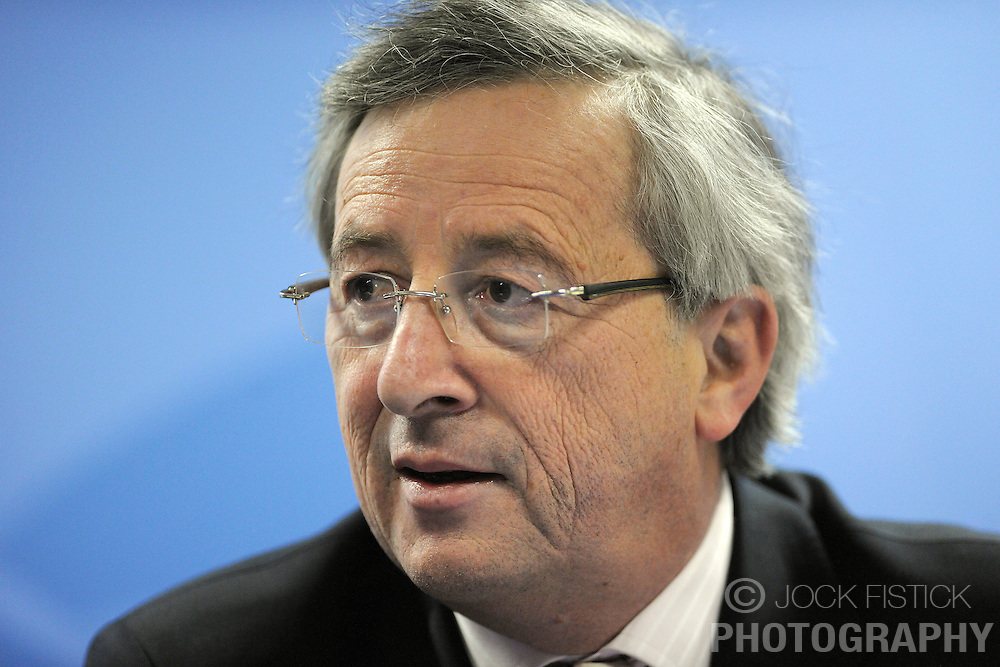 Jean-Claude Juncker, Luxembourg's prime minister, speaks during a news conference following the close of the European Summit, Friday, March 20, 2009, in Brussels, Belgium. (Photo © Jock Fistick)