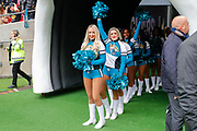 Jacksonville Jaguars Cheerleadersduring the International Series match between Jacksonville Jaguars and Houston Texans at Wembley Stadium, London, England on 3 November 2019.