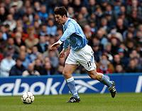Fotball<br /> Manchester City v Manchester United<br /> 14. mars 2004<br /> Foto: Digitalsport<br /> Norway Only<br /> Jon Macken,  Manchester City