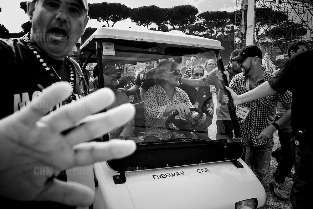 Beppe Grillo alla  festa del Movimento 5 Stelle al Circo Massimo. <br /> Roma 12 Ottobre 2014 Daniele Stefanini /  OneShot