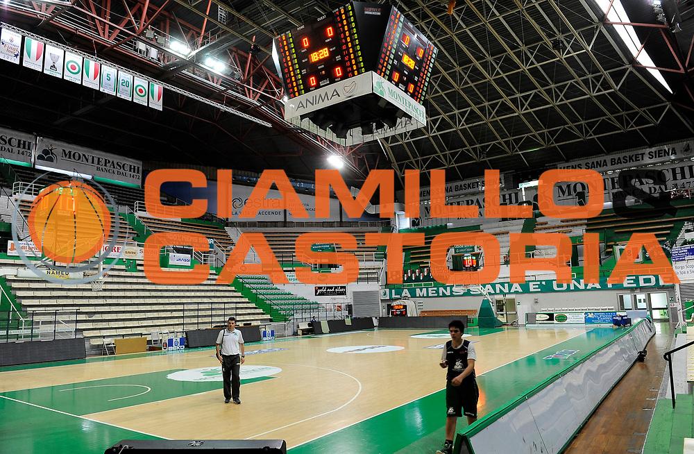DESCRIZIONE : Siena Lega A 2013-2014 Montepaschi Siena GrissinBon Reggio Emilia playoff  Quarti di Finale Gara 2<br /> GIOCATORE : <br /> CATEGORIA : Panoramica Palazzetto dello Sport<br /> SQUADRA : MontePaschi Siena  <br /> EVENTO : Lega A 2013-2014 playoff  Quarti di Finale Gara 2 <br /> GARA : Montepaschi Siena GrissinBon Reggio Emilia <br /> DATA : 24/05/2014 <br /> SPORT : Pallacanestro <br /> AUTORE : Agenzia Ciamillo-Castoria/A.Giberti <br /> GALLERIA : Lega A playoff 2013-2014 <br /> FOTONOTIZIA : Siena Lega A 2013-2014 Montepaschi Siena GrissinBon Reggio Emilia playoff  Quarti di Finale Gara 2