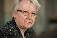 31 JAN 2012, BERLIN/GERMANY:<br /> Annette Schavan, CDU, Bundesforschungsministerin, waehrend einem Interview, Hauptstadtredaktion Rheinische Post<br /> IMAGE: 20120131-01-017