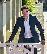 Orlando Bloom at the inauguration of the cabin at Deauville