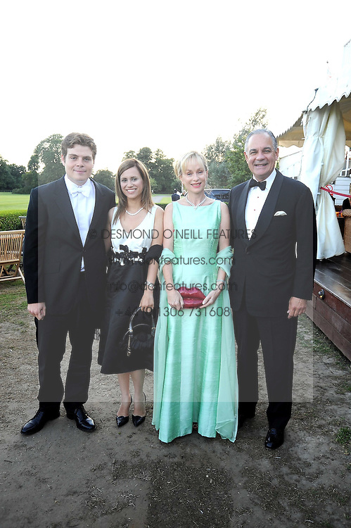 Left to right, FREDDIE VENTURA, ANNA DOMINGUEZ, ADRIENNE VENTURA and CHARLES ATKINS at the annual Ham Polo Club Summer Ball held at the club, Petersham Road, Richmond, Surrey on 25th July 2008.<br /> <br /> NON EXCLUSIVE - WORLD RIGHTS