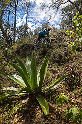 Casey Coffman on the descent from La Bufa<br /> Mascota, Mexico