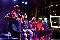 CHARLOTTE, USA - Saturday, July 21, 2018: Official Liverpool FC Legends live show at the Rooftop 102 in the Epicentre Charlotte ahead of a preseason International Champions Cup match between Borussia Dortmund and Liverpool FC in Charlotte. (Pic by David Rawcliffe/Propaganda)