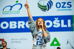 Nina Puslar during the Day for the medals: Reception of Slovenian sport heroes on 30.9.2019 on Kongresni square, Ljubljana, Slovenia. Photo by Urban Meglič / Sportida