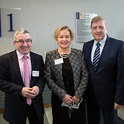 20.01.17<br /> Minister of State for Employment and Small Business, Deputy Pat Breen addressed a seminar for SMEs on The Role of Education in Supporting Small Business at University of Limerick.<br /> <br /> Pictured at the event were, Paul Dillon, UL, Yvonne Delaney, UL and Minister of State for Employment and Small Business, Deputy Pat Breen.<br /> <br />  Jointly hosted by the Kemmy Business school and the faculty of Science and Engineering, the event brought together small and medium enterprises along with representative bodies, Local Enterprise Offices, Chambers of Commerce, Irish Small and Medium Enterprises association (ISME), Enterprise Ireland and the IDA. The aim of the event was to stimulate greater collaboration between third level institutes and SMEs in relation to research, education and business advice. To date, University of Limerick and Limerick Institute of Technology have supported a number of start-ups through the Nexus Innovation Centre and LIT's Enterprise Centres while academic staff have provided expert advice to local companies. Picture: Alan Place
