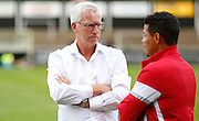 Alan Pardew looking calm and relaxed before the Pre-Season Friendly match between Bromley and Crystal Palace at the Courage Stadium, Bromley, United Kingdom on 30 July 2015. Photo by Michael Hulf.