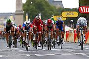 Arrival sprint, Edvald Boasson Hagen (NOR - Dimension Data), Arnaud Demare (FRA - Groupama - FDJ), Christophe Laporte (FRA - Cofidis) ,John Degenkolb (GER - Trek - Segafredo), Alexander Kristoff (NOR - UAE Team Emirates) during the 105th Tour de France 2018, Stage 21, Houilles - Paris Champs-Elysees (115 km) on July 29th, 2018 - Photo Luca Bettini / BettiniPhoto / ProSportsImages / DPPI