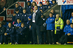 Wigan Manager Malky Mackay looks on - Photo mandatory by-line: Rogan Thomson/JMP - 07966 386802 - 30/12/2014 - SPORT - FOOTBALL - Wigan, England - DW Stadium - Wigan Athletic v Sheffield Wednesday - Sky Bet Championship.