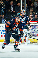 KELOWNA, BC - DECEMBER 27: Quinn Schmiemann #25 of the Kamloops Blazers skates against the Kelowna Rockets  at Prospera Place on December 27, 2019 in Kelowna, Canada. Schmiemann was selected in the 2019 NHL entry draft by the Tampa Bay Lightning. (Photo by Marissa Baecker/Shoot the Breeze)