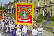 Wistow banner, Yorkshire Miners Gala Barnsley 16/6//96