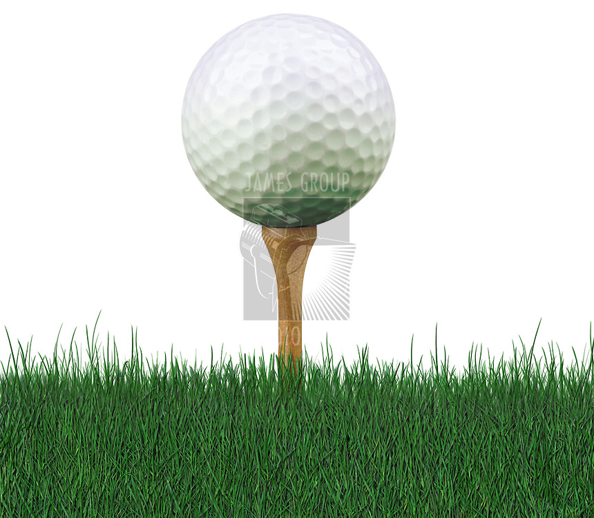 worm's eye view of golf ball on tee