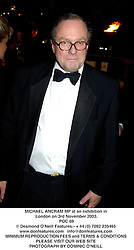 MICHAEL ANCRAM MP at an exhibition in London on 3rd November 2003.<br /> POC 69