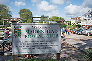 Maidenhead. Berkshire. United Kingdom. General view Club signage, Maidenhead RC Boathouse. 2017 Maidenhead Junior Regatta  River Thames. <br /> <br /> [&copy;Peter SPURRIER/Intersport Images] Sunday. 14.05.2017