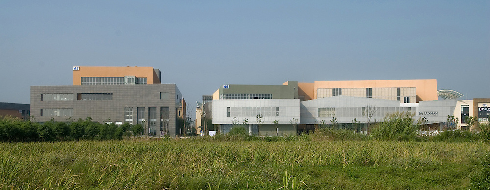 Furniture village near Shanghai. Architect: The Atkins Group.
