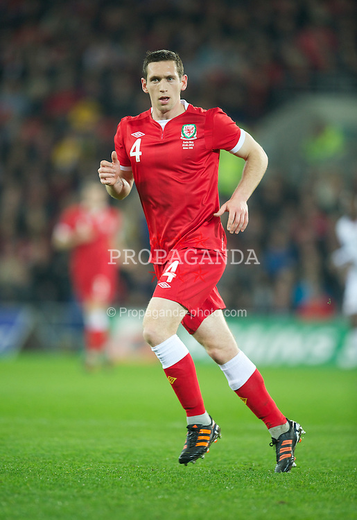 CARDIFF, WALES - Wednesday, February 29, 2012: Wales' Andrew Crofts in action against Costa Rica during the international friendly match at the Cardiff City Stadium. (Pic by David Rawcliffe/Propaganda)