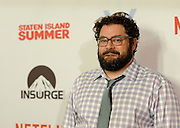 Actor Bobby Moynihan poses on the red carpet at the premiere of the movie Staten Island Summer at Sunshine Cinema, Tuesday, July 21, 2015, in New York.  The new comedy debuts on Netflix on July 30, 2015 and is available for Digital download. (Photo by Diane Bondareff/Invision for Paramount Pictures/AP Images)