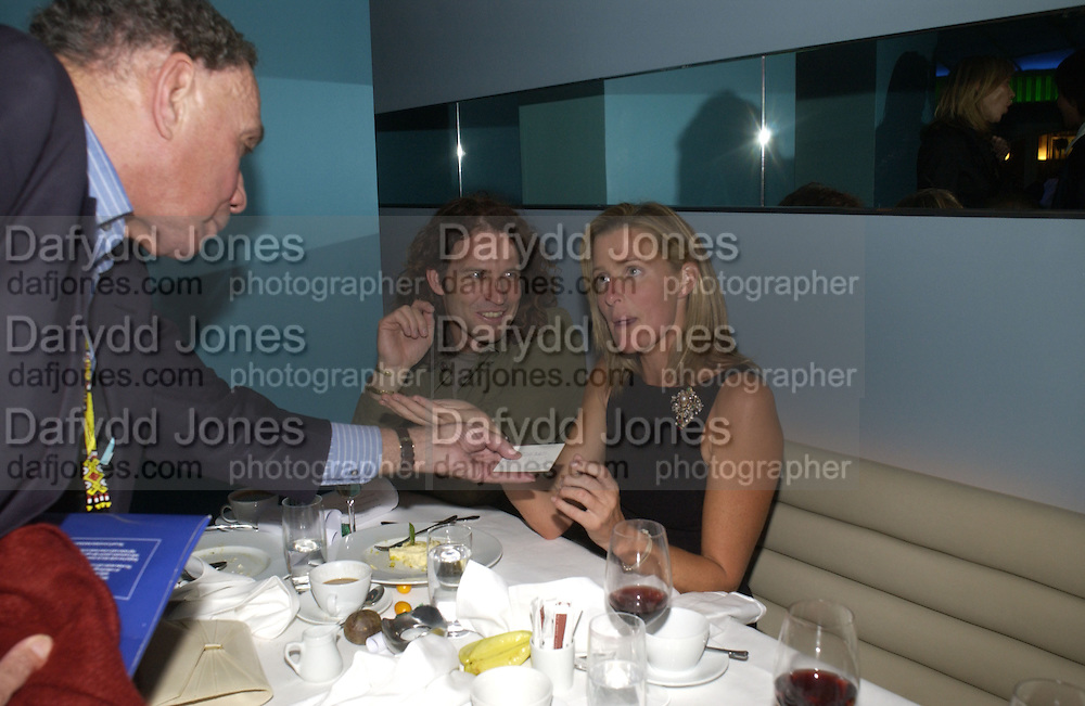 Robin Gregg,Ralph Bansfield and  India Hicks. Launch dinner for Island Beauty by India Hicks hosted by Charles Finch and Harvey Nichols Fifth Floor Restaurant. London. .  14  November 2005 . ONE TIME USE ONLY - DO NOT ARCHIVE © Copyright Photograph by Dafydd Jones 66 Stockwell Park Rd. London SW9 0DA Tel 020 7733 0108 www.dafjones.com