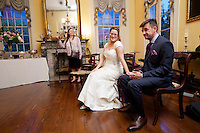 Robin Norvell and Manuel Guerzoni celebrate their wedding day with family and friends in New Orleans, La., September 27, 2014.