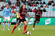 SYDNEY, AUSTRALIA - MARCH 30: Western Sydney Wanderers forward Oriol Riera (9) takes the free kick and scores at round 23 of the Hyundai A-League Soccer between Western Sydney Wanderers FC and Melbourne City FC on March 30, 2019 at ANZ Stadium in Sydney, Australia. (Photo by Speed Media/Icon Sportswire)