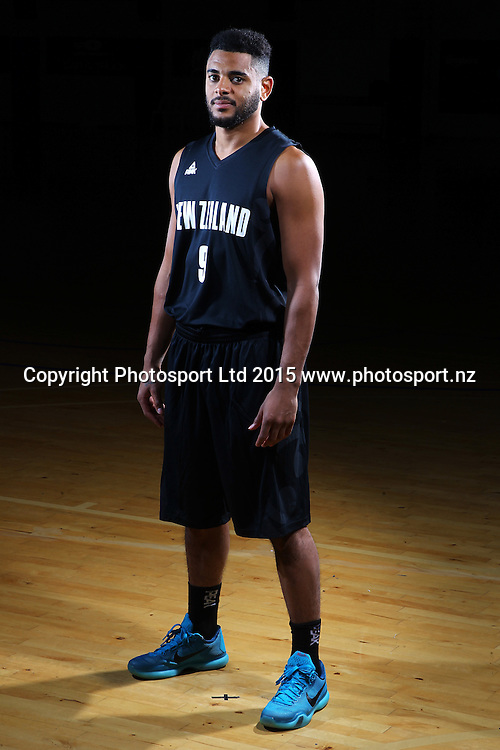 Corey Werbster, Tall Blacks, New Zealand national basketball team profile shots. Breakers Gym, Auckland. 17 July 2015. Copyright Photo: William Booth / www.photosport.nz
