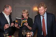 WILLIAM BOYD; JOANNA LUMLEY; BASTIAN FAULKS The launch of 'Solo', the new James Bond novel written by William Boyd,  The Dorchester , PARK LANE, LONDON. 25 SEPTEMBER 2013.