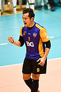 BANGKOK, THAILAND - MARCH 19: Piyarat Toontupthai of Air Force VC #9 reaction during the 2016–17 Men's Volleyball Thailand League Championship, Chantarubeksa Air Force Stadium, Bangkok, Thailand on March 19, 2017.<br /> .<br /> .<br /> .<br /> (Photo by: Naratip Golf Srisupab/SEALs Sports Images)<br /> .<br /> Any image use must include a mandatory credit line adjacent to the content which should read: Naratip Golf Srisupab/SEALs Sports Images