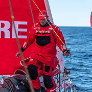 Leg 11, from Gothenburg to The Hague, day 03 on board MAPFRE, Antonio Cuervas-Mons during a peeling. 23 June, 2018.