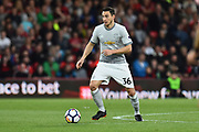 Matteo Darmian (36) of Manchester United during the Premier League match between Bournemouth and Manchester United at the Vitality Stadium, Bournemouth, England on 18 April 2018. Picture by Graham Hunt.