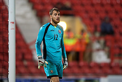 WREXHAM, WALES - Tuesday, November 17, 2015: Romania's Valentin Cojocaru in action against Wales during the UEFA Under-21 Championship Qualifying Group 5 match at the Racecourse Ground. (Pic by David Rawcliffe/Propaganda)