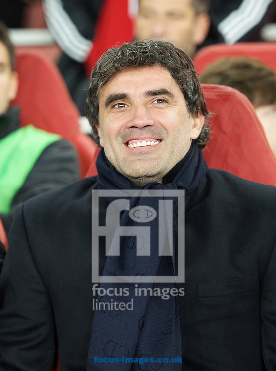 Manager Zoran Mamic of Dinamo Zagreb during the UEFA Champions League match at the Emirates Stadium, London<br /> Picture by Alan Stanford/Focus Images Ltd +44 7915 056117<br /> 24/11/2015