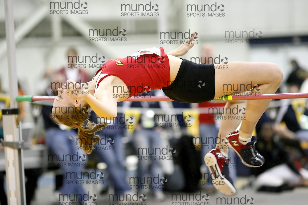 Windsor, Ontario ---12/03/09--- \cis guelph \ competes in the Women's Pentathlon High Jump at the CIS track and field championships in Windsor, Ontario, March 12, 2009..Sean Burges Mundo Sport Images