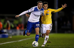 Niall Maher of Bury goes past Zach Clough of Bolton Wanderers - Mandatory by-line: Robbie Stephenson/JMP - 24/10/2016 - FOOTBALL - Gigg Lane - Bury, England - Bury v Bolton Wanderers - Sky Bet League One