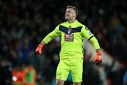 Artur Boruc of Bournemouth celebrates Bournemouth win over Manchester United 2-1 - Mandatory by-line: Jason Brown/JMP - Mobile 07966 386802 12/12/2015 - SPORT - FOOTBALL - Bournemouth, Vitality Stadium - AFC Bournemouth v Manchester United - Barclays Premier League