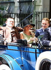 New York Christina Ricci and David Hoflin on set of new show Z The Beginning Of Everything