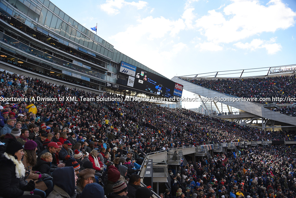 01 November 2014:  A general view of Soldier Field in action during a friendly test match between the USA Men's Eagles and the New Zealand All Blacks at Soldier Field, in Chicago, IL.