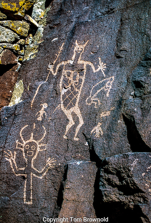 Katchina Petroglyphs on Basalt