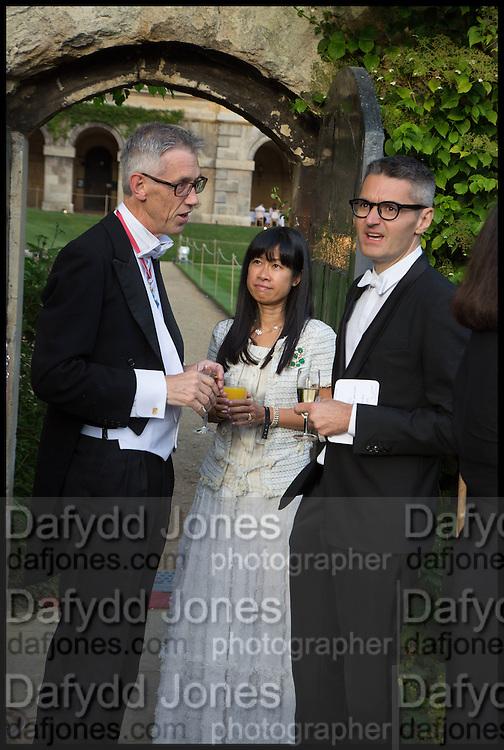 PROVOST WORCESTER COLLEGE PROF JONATHAN BATE; JAMES PALUMBO; PIM, The Tercentenary Ball, Worcester College. Oxford. 27 June 2014